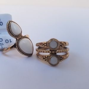 Forever 21 Jewelry - ⚡3/$12⚡ NWOT Forever 21 Boho Faux Stone Ring Set